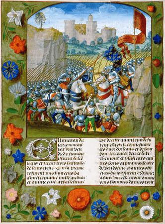 The Battle of Agincourt from Enguerrand de Monstrelet, Chronique de France