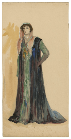 Costume design for unspecified character in the Viola Allen production of Cymbeline