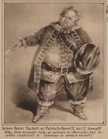 James Henry Hackett as Falstaff