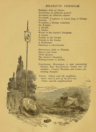 Dramatic Personae from American Book Company edition of The Two Noble Kinsmen