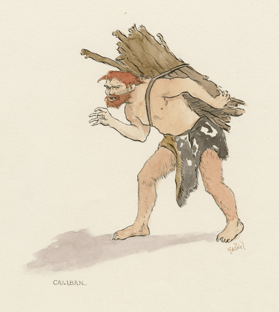 Costume sketches for various characters