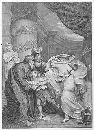 Child alarmed at his aunt Lavinia