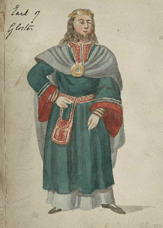 Costume design for Earl of Gloucester