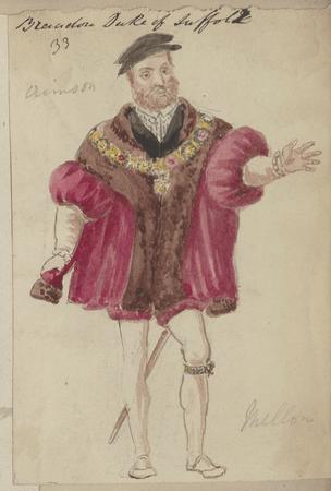 Costume design for the Duke of Suffolk