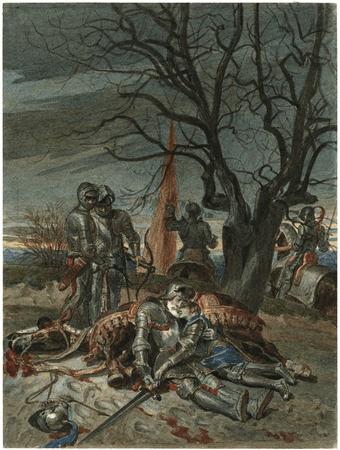 The death of Lord Talbot and his son, John