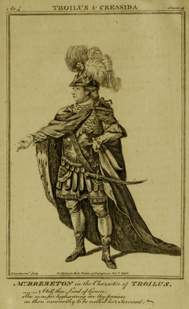William Brereton as Troilus