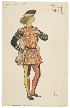 Costume design for Thurio