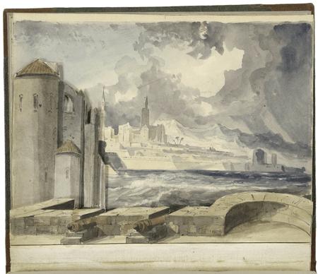 Othello scenery: port & citadel of Famagusta, Isle of Cyprus