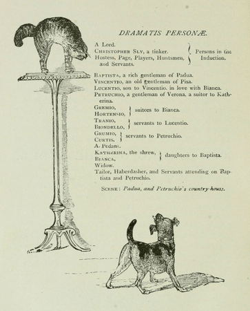 Dramatis Personae from Harper & Brothers edition of The Taming of the Shrew