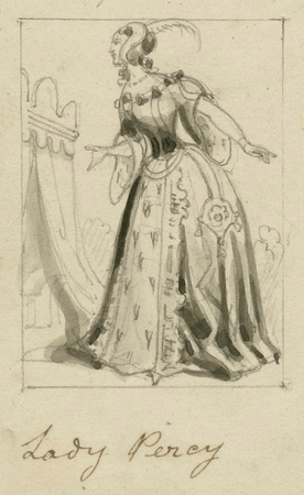 Costume design for Lady Percy (also known as Lady Hotspur)