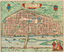 1581 map of Orléans, France
