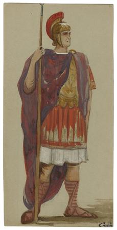 Costume design for Caius Lucius