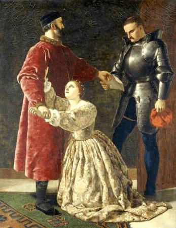 Duke Frederick Banishing Rosalind from His Court