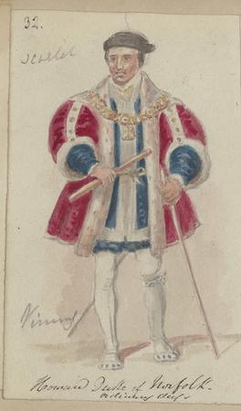 Costume design for Thomas Howard, 2nd Duke of Norfolk