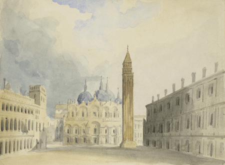 Scene designs for Merchant of Venice, probably by Charles Marshall