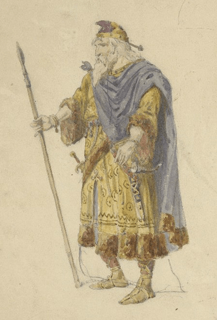 Costume design for King Lear