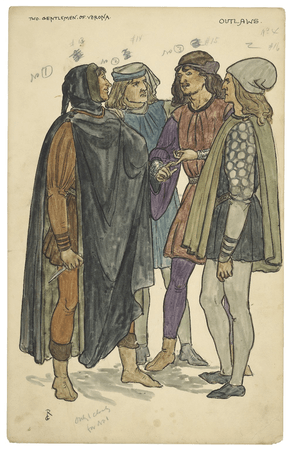 Costume illustrations for the Daly production of wo gentlemen of Verona