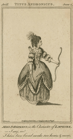 Miss P. Hopkins in the character of Lavinia
