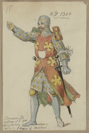 Costume design for Lord Rambures