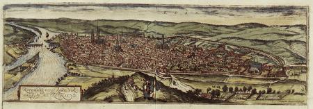 16th century map of Rouen