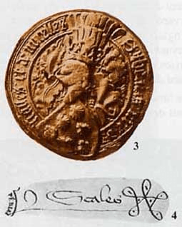 Seal and signature of Thomas de Scales