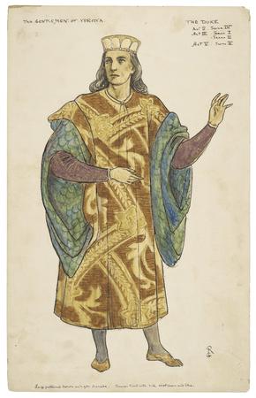 Costume design for the duke