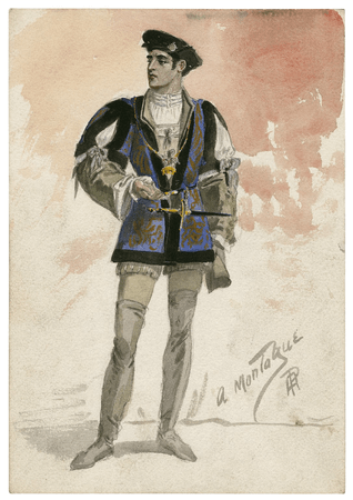 Costume design for a Montague