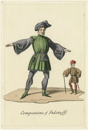 Costume designs for companions of Falstaff