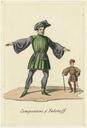 Costume designs for companions of Falstaff