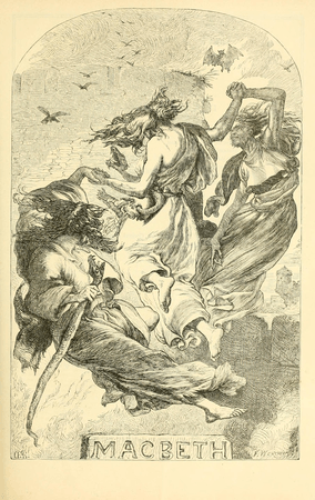 Frontpiece for Macbeth in Cassell's Illustrated Shakespeare