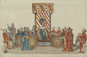 Tableau of the first scene in Richard II