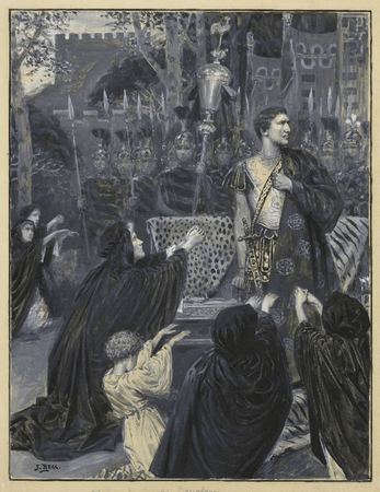 Henry Irving as Coriolanus and Ellen Terry as Volumnia
