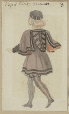 Costume designs for Gardiner's page