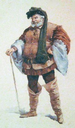 """Costume design for Giuseppe Verdi's opera """"Falstaff"""""""