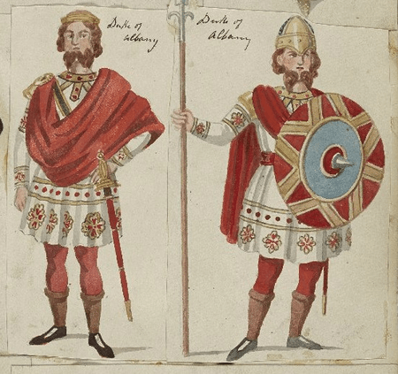 Costume designs for Duke of Albany