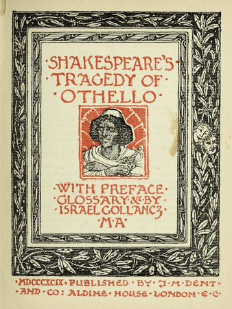 Frontpiece for J.M. Dent's edition of Othello
