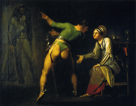 Hamlet Shows His Mother the Ghost of His Father
