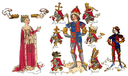 Detail from the Rous Roll showing Richard III with his wife Anne Neville