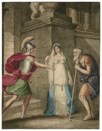 Pandarus, Cressida, and Troilus