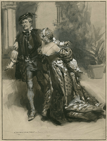 Herbert Beerbohm Tree as Benedick and Winifred Emery as Beatrice
