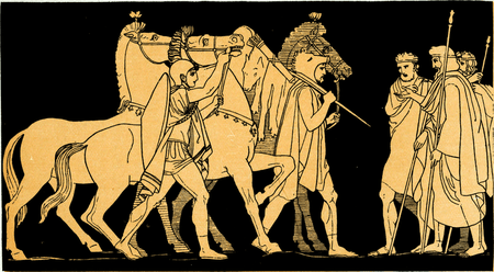 Diomed and Ulysses returning with the spoils of Rhesus