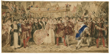 The coronation procession of Anne Boleyn
