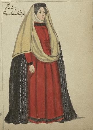 Costume design for Lady Faulconbridge