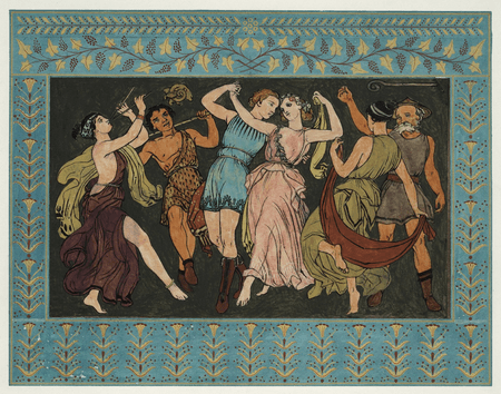 Florizel and Perdita dance with the shepherds