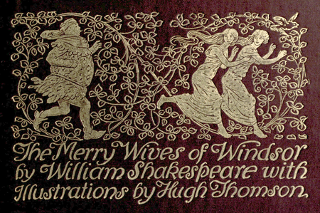 Cover of Stokes Company's 1910 edition of The Merry Wives of Windsor