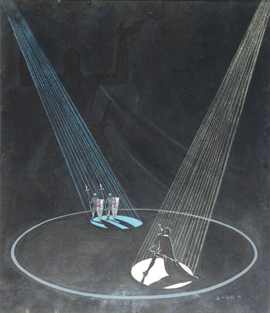 Theatrical design for Hamlet