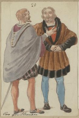 Costume designs for two gentlemen