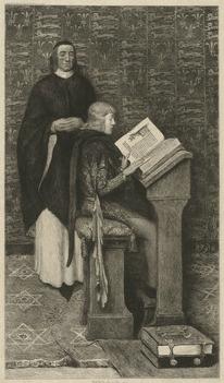Richard de Bury Tutoring Young Edward III