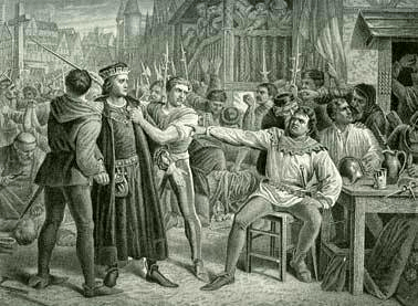 Lord Saye and Sele brought before Jack Cade 4th July 1450