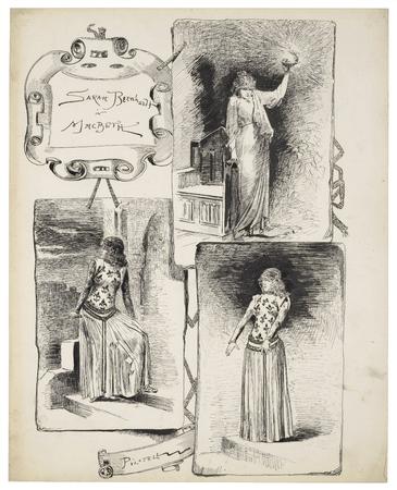 Sarah Bernhardt in Macbeth